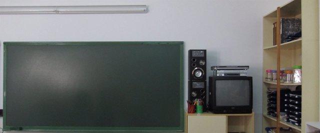Pizarra, clase, en un colegio