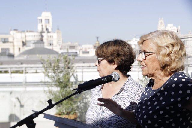 Manuela Carmena e Inés Sabanés