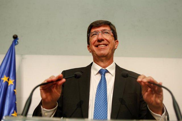 El líder de Cs en Andalucía Juan Marín
