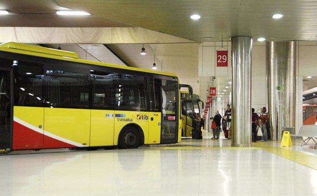 Un autobús del TIB se incendia en la carretera de Pollença