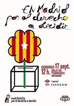 Cartel acto Madrileños por el derecho a decidir