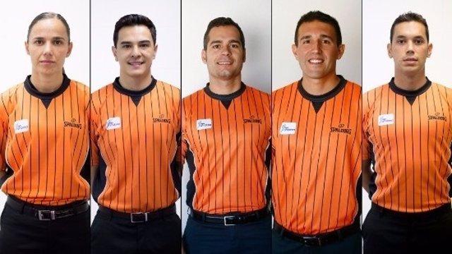 Cinco nuevos árbitros en la Liga Endesa