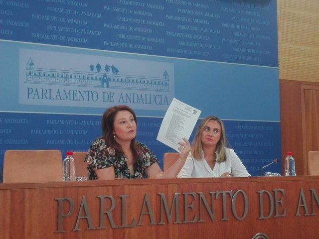Carmen Crespo y Marifrán Carazo, hoy ante los medios