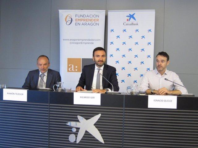 Tejedor, Ger y Quílez han presentado la nueva edición de premios EmprendedorXXI