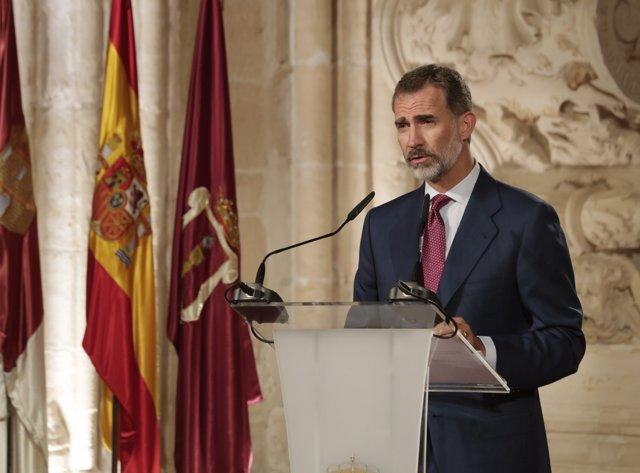 El Rei en l'entrega dels Premis Nacionals de Cultura