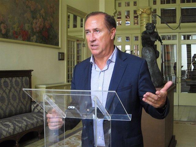 El portavoz adjunto del GPP, Juan Manuel Lafuente