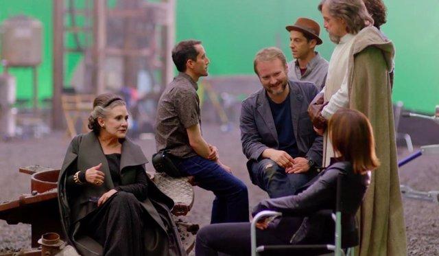 Rian Johnson en el rodaje de 'Star Wars: Los últimos Jedi'