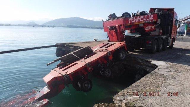 Lugar del accidente en el Puerto