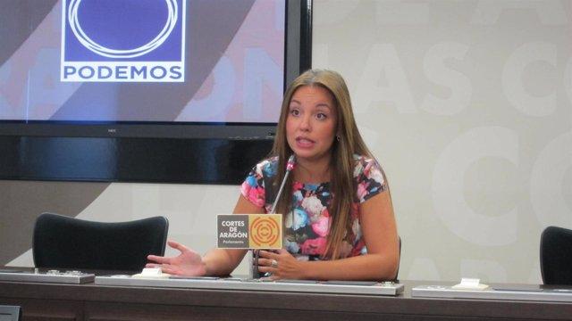 La portavoz de Podemos en las Cortes, Maru Díaz
