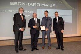 El consejero delegado de Skoda, Bernhard Maier, elegido Brand  Manager del año 2