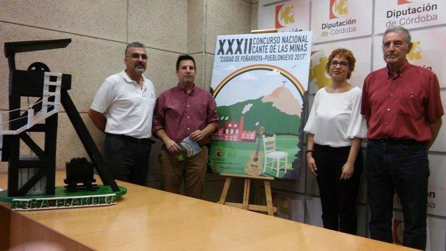 Ruz y Expósito (centro), presentan el XXXII Concurso Nacional Cante de las Minas