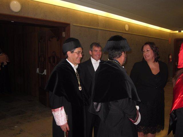 Clavijo, los rectores y la consejera