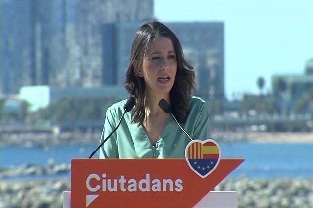 Arrimadas señala a Puigdemont como responsable del 1-O