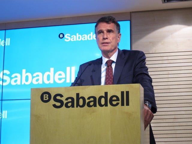 Jaime Guardiola, consejero delegado de Banco Sabadell