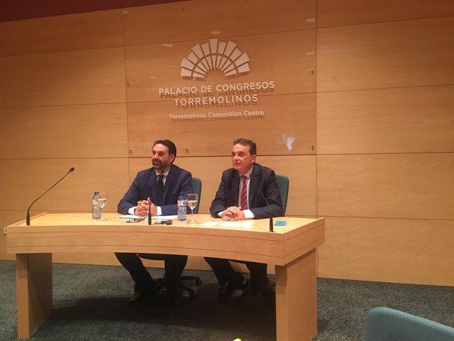 El consejero de turismo con el alcalde de Torremolinos málaga pepe ortiz