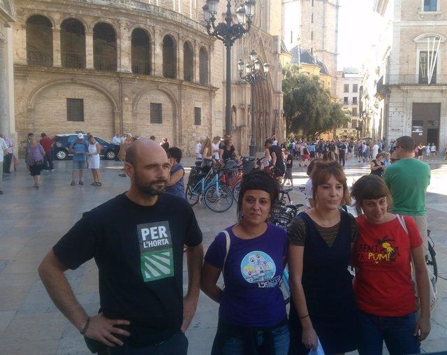 Acto de la CUP a favor del referéndum catalán