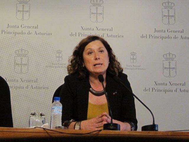 La diputada socialista en la Junta General Carmen Eva Pérez Ordieles