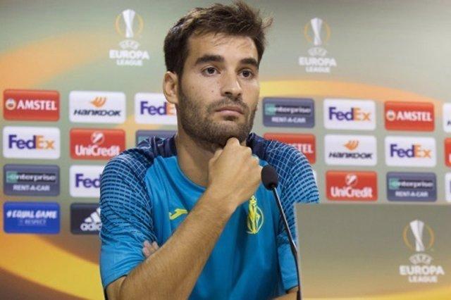 Manu Trigueros (Villarreal) en rueda de prensa