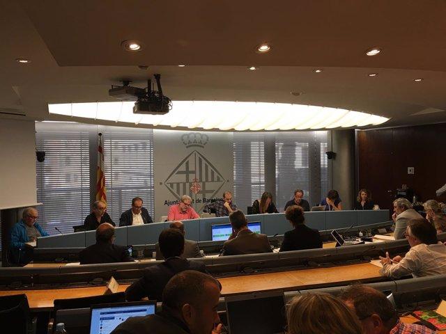 Sesión de la comisión de la conectividad de transporte público en la Diagonal