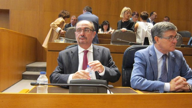 Lambán, hoy en las Cortes antes de dar comienzo al Debate de política general