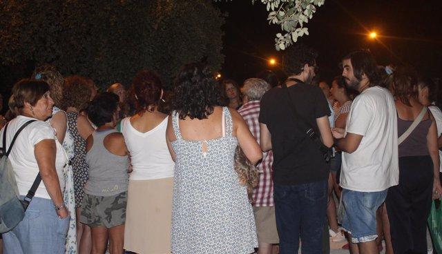 Concentración en el parque del Tamarguillo.
