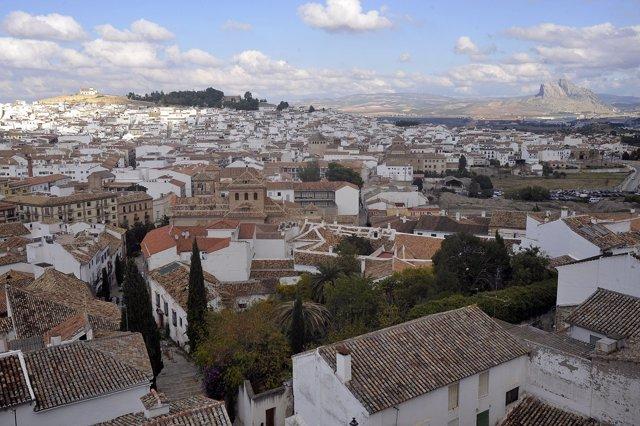Antequera turismo vista fotografía colegiata