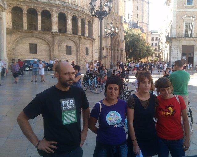 Acte de la CUP a favor del referèndum català