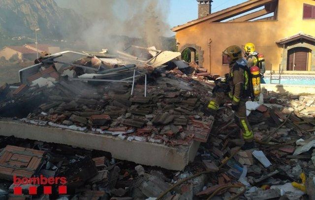 S'esfondra una casa a Collbató