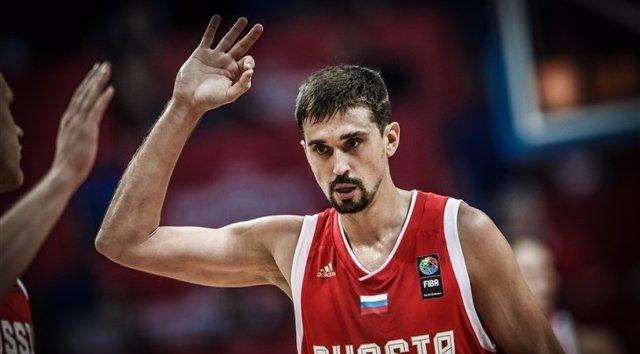 Aleksei Shved con la selección de Rusia en el Eurobasket