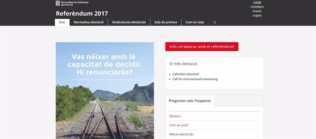 La guardia civil clausura la web del refer ndum por orden for Web del barsa