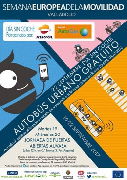 Cartel promocional de la Semana de la Movilidad en Valladolid