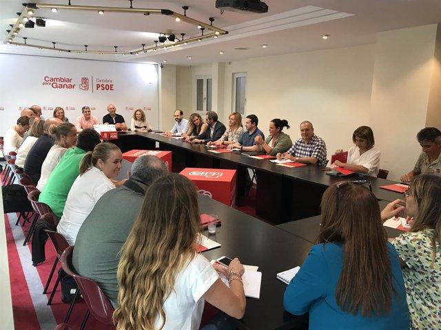 Comisión Ejecutiva Regional del PSOE, presidida por Pablo Zuloaga