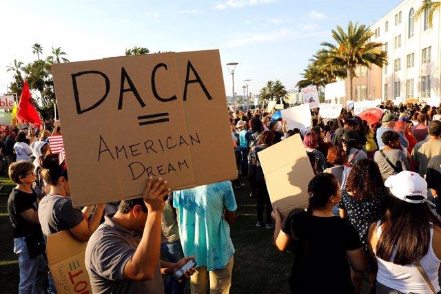 Manifestación en apoyo de los 'dreamers' en San Diego