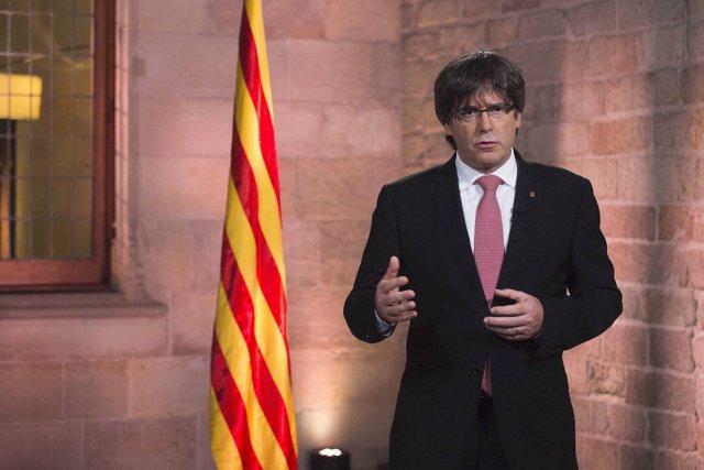Missatge institucional del president Puigdemont per la Diada