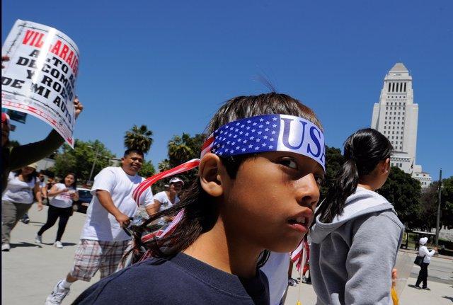 Fills d'immigrants a Los Angeles, Califòirnia EUA
