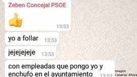 Un concejal de La Laguna (Tenerife) publica mensajes machistas en un chat del PSOE