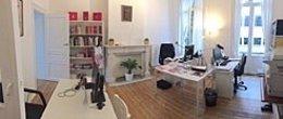 Interior de la oficina de Navarra en Bruselas.