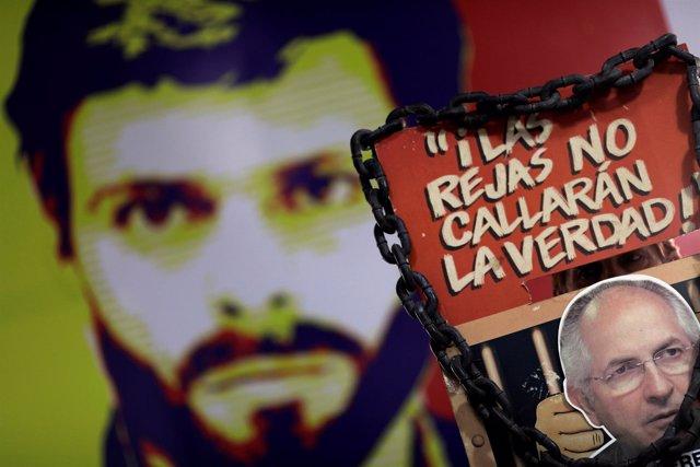 Imágenes de Leopoldo López y Antonio Ledezma
