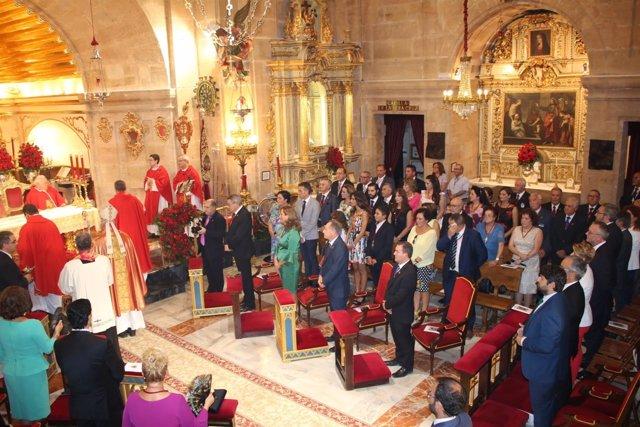 López Miras, asiste a la misa