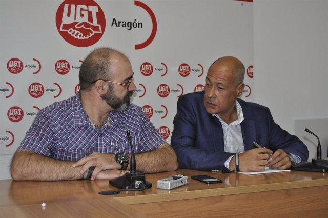 Antonio López y Diego Giráldez, de la federación de Seguridad de UGT.
