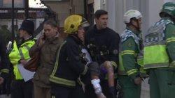 Un atac amb una bomba casolana deixa 22 ferits el metro de Londres (EUROPAPRESS)