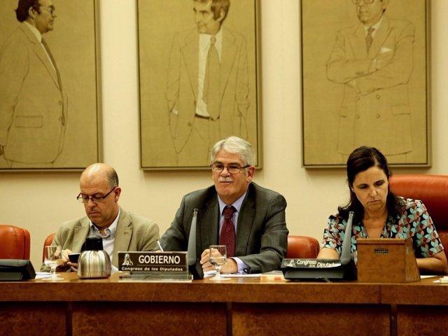 Alfonso Dastis, en la Comisión de Exteriores del Congreso