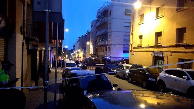 Protesta contra la mezquita prevista en la calle Japó de Nou Barris, Barcelona