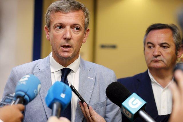 El vicepresidente de la Xunta, Alfonso Rueda, en la Audiencia Provincial de Lugo