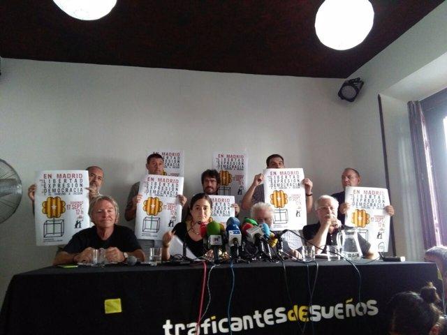 Acto en favor de 'En Madrid por el Derecho a Decidir'