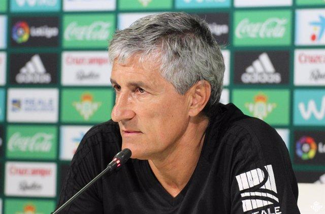 Quique Setién, entrenador del Real Betis Balompié