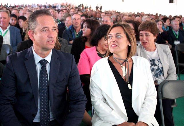 Milagros Marcos junto a Francisco Javier Blanco.