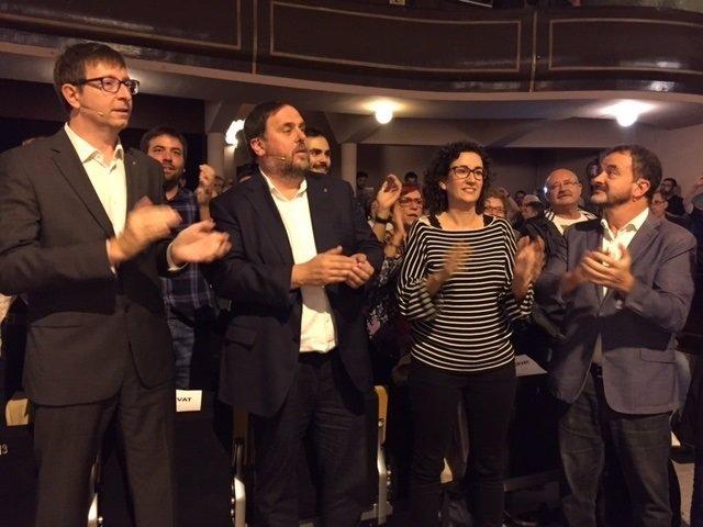 Consellers Carles Mundó,O.Junqueras,Marta Rovira,Alfred Bosch (ERC)