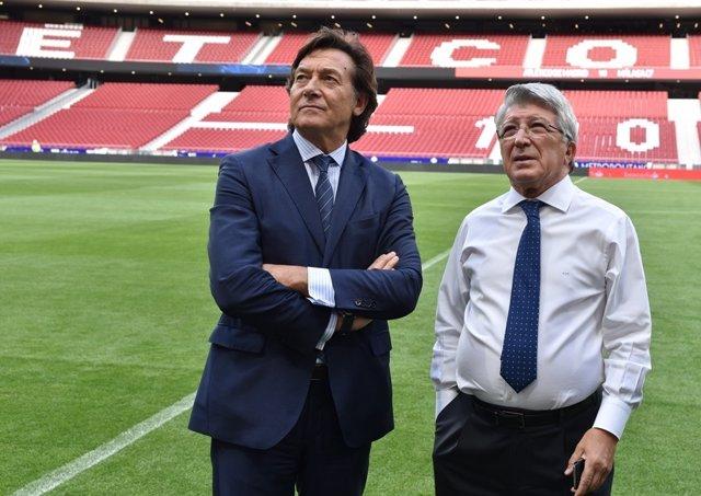 José Ramón Lete y Enrique Cerezo en el Wanda Metropolitano