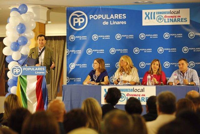 Moreno en el congreso local de Linares
